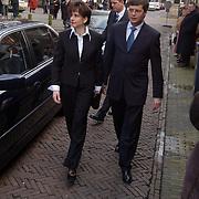 Mattheus Passion 2004 Naarden, Jan Peter Balkenende en vrouw Bianca Hoogendijk