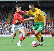 Bristol - Saturday, October 18th, 2008: Ivan Sproule of Bristol City and Ryan Bertrand of Norwich City during the Coca Cola Championship match at Ashton Gate, Bristol. (Pic by Alex Broadway/Focus Images)