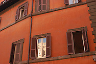 The wall of a building is seen October 27, 2006 in Rome, Italy. (Photo by William Thomas Cain/Cain Images)