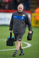 STEVENAGE, ENGLAND - Saturday, December 17, 2011: Tranmere Rovers' coach John McMahon during the Football League One match against  Stevenage at Broadhall Way. (Pic by David Rawcliffe/Propaganda)