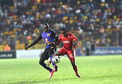 South Africa: Johannesburg: Kaizer Chiefs player  Godfrey Walusimbi and Highlands Park player  during the Premier Soccer League (PSL) at Makhulong stadium in Tembisa, Gauteng.<br />02.10.2018<br />Picture: Itumeleng English/African News Agency (ANA)
