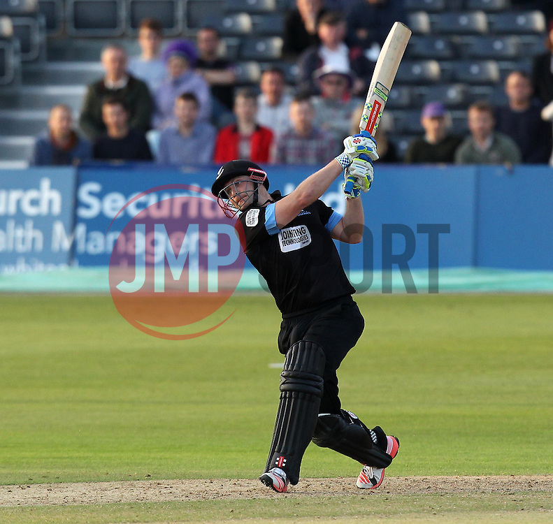 Sussex's Luke Wright hits out - Photo mandatory by-line: Robbie Stephenson/JMP - Mobile: 07966 386802 - 26/06/2015 - SPORT - Cricket - Bristol - The County Ground - Gloucestershire v Sussex - Natwest T20 Blast