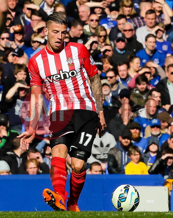 Southampton's Toby Alderweireld  - Photo mandatory by-line: Matt McNulty/JMP - Mobile: 07966 386802 - 04/04/2015 - SPORT - Football - Liverpool - Goodison Park - Everton v Southampton - Barclays Premier League