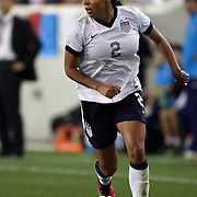 Sydney Leroux, USA, in action during the U.S. Women Vs Korea Republic friendly soccer match at Red Bull Arena, Harrison, New Jersey. USA. 20th June 2013. Photo Tim Clayton