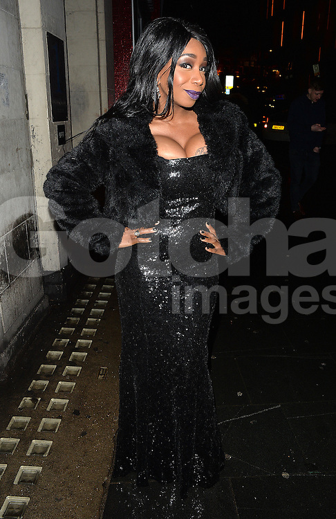 Big Brother star Tiffany Pollard at Cafe De Paris club in London, UK. 06/02/2016<br />