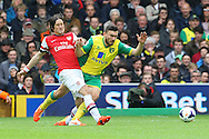 Tomas Rosicky of Arsenal and Robert Snodgrass of Norwich in action during the Barclays Premier League match at Carrow Road, Norwich<br /> Picture by Paul Chesterton/Focus Images Ltd +44 7904 640267<br /> 11/05/2014