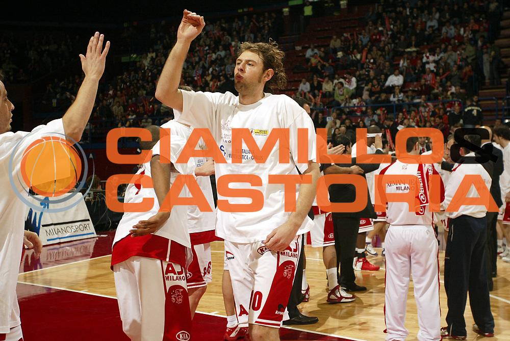 DESCRIZIONE : Milano Lega A1 2005-06 Armani Jeans Milano Montepaschi Siena <br />GIOCATORE : Galanda<br />SQUADRA : Armani Jeans Milano<br />EVENTO : Campionato Lega A1 2005-2006<br />GARA : Armani Jeans Milano Montepaschi Siena<br />DATA : 18/03/2006<br />CATEGORIA : <br />SPORT : Pallacanestro<br />AUTORE : Agenzia Ciamillo-Castoria/S.Ceretti