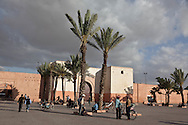 Morocco, Marrakech , North Gate of the old city, street life