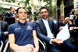SERENA ORTOLANI E DAVIDE MAZZANTI<br /> CONFERENZA LEGA VOLLEY FEMMINILE SQUADRE ITALIANE PROTAGONISTE IN EUROPA<br /> FOTO FILIPPO RUBIN / LVF