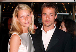 File photo dated 02/12/1996 of Actor Brad Pitt and Gwyneth Paltrow who has said she is grateful to then boyfriend Brad Pitt for protecting her by threatening Harvey Weinstein following an alleged incident of sexual misconduct.