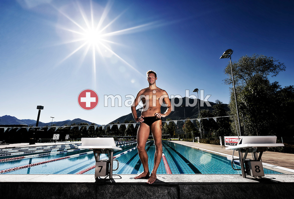 Ian THORPE of Australia poses for a photo at his 50m outdoor training pool at the Centro sportivo nazionale della gioventu in Tenero, Switzerland, Friday, Sept. 9, 2011. (Photo by Patrick B. Kraemer / MAGICPBK)