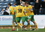 Huddersfield - Saturday, March 13th, 2010: Grant Holt of Norwich City celebrates scoring their first goal against Huddersfield Town during the Coca Cola League One match at the Galpharm Stadium, Huddersfield. (Pic by Michael Sedgwick/Focus Images)