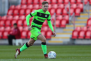 Forest Green Rovers Dayle Grubb(8) runs forward during the EFL Sky Bet League 2 match between Exeter City and Forest Green Rovers at St James' Park, Exeter, England on 27 October 2018.