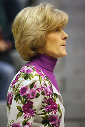 10 January 2009: Coach Beth Baker. The Lady Titans of Illinois Wesleyan University downed the and Lady Thunder of Wheaton College by a score of 101 - 57 in the Shirk Center on the Illinois Wesleyan Campus in Bloomington Illinois.