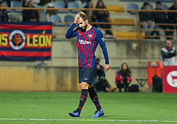 October 31, 2018 - Leon, Leon, Spain - Player of Barcelona in action during the King Spanish championship, , football match between Cultural Leonesa and Barcelona, October 31, in Reino de Leon Stadium in Leon, Spain. (Credit Image: © AFP7 via ZUMA Wire)
