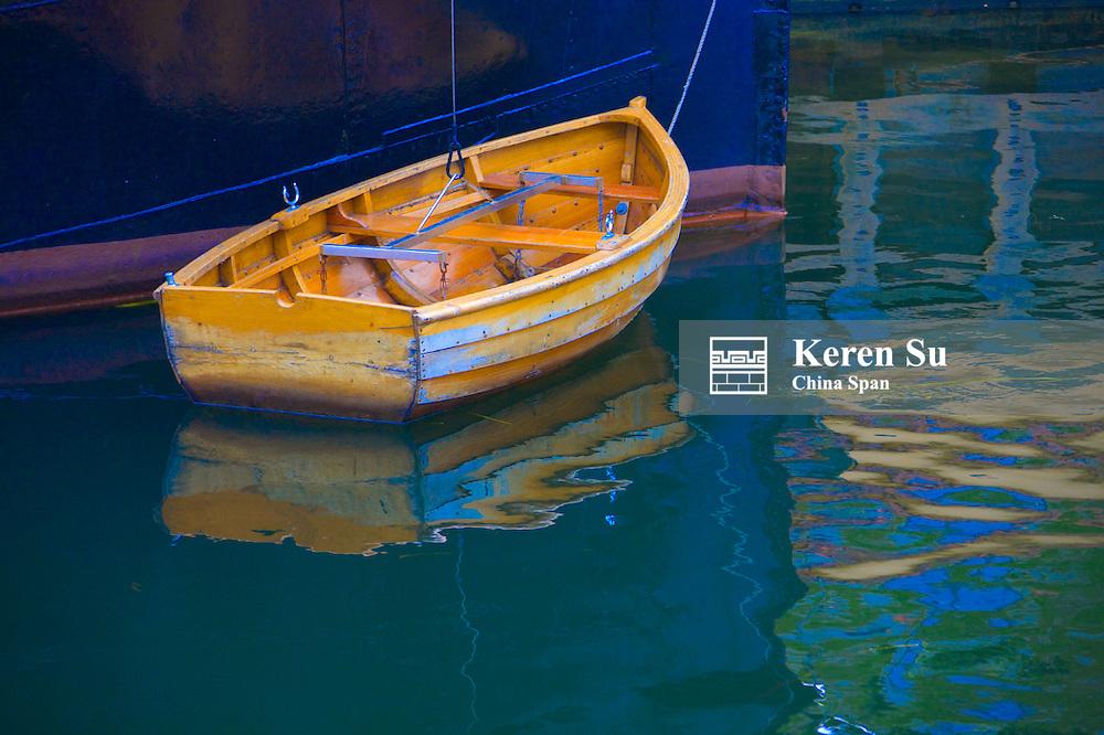 Boat in the canal, Copenhagen, Denmark