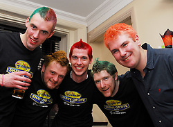 Some employees from Allergan Westport who are taking part in Today Fm's Shave or Dye campaign, they were pictured at their fundraising night last in The West Bar, Ciaran O' Connell, Peter Connelly, Colin Mohan, Hugh O' Malley and Padraig Ruane...Pic Conor McKeown
