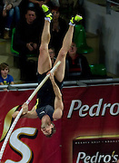 Bjorn Otto of Germany competes in men's pole vault during indoor athletics meeting Pedro's Cup 2013 at Luczniczka Hall in Bydgoszcz, Poland...Poland, Bydgoszcz, February 12, 2013..Picture also available in RAW (NEF) or TIFF format on special request...For editorial use only. Any commercial or promotional use requires permission...Photo by © Adam Nurkiewicz / Mediasport