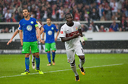September 16, 2017 - Stuttgart, Germany - Stuttgarts Chadrac Akolo celebrates the 1:0 / Bundesliga match VfB Stuttgart vs VfL Wolfsburg, September 16, 2017. (Credit Image: © Bartek Langer/NurPhoto via ZUMA Press)