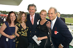 Left to right, EVA BIRTHISTLE, GILLIAN ANDERSON, ARNAUD BAMBERGER, DIANE KRUGER and CHARLES FINCH at the Queen's Cup polo final sponsored by Cartier at Guards Polo Club, Smith's Lawn, Windsor Great Park on 18th June 2006.  The Final was between Dubai and the Broncos polo teams with Dubai winning.<br />