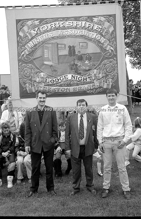 Treeton Branch banner. 1990 Yorkshire Miner's Gala. Rotherham.