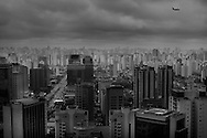 Sao Paulo, Brasil, November 11 of 2010: Aerial view of Sao Paulo downtown. Photo: Caio Guatelli