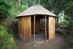 Wooden chapel at Greencombe Gardens, Somerset