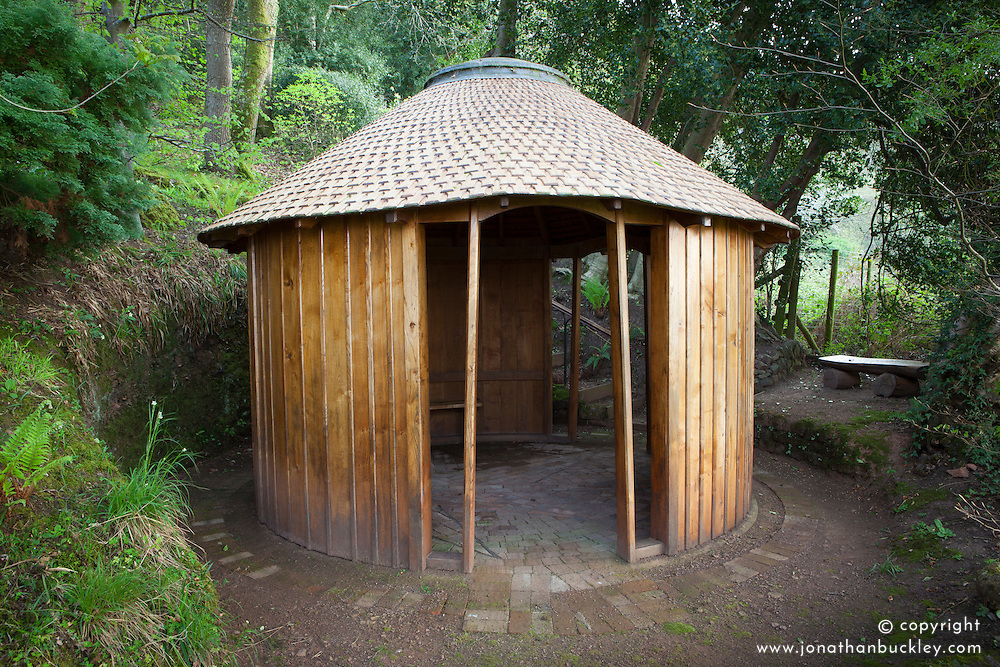 Wooden chapel at Greencombe Gardens, Somerset