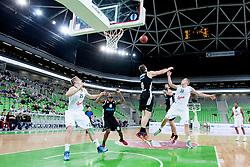 Sasu Salin #10 of KK Union Olimpija during basketball match between KK Union Olimpija and  Cimberio Varese (ITA) of 1st Round of Regular season of EuroCup 2013/2014 on October 16, 2013, in SRC Stozice, Ljubljana, Slovenia. (Photo by Urban Urbanc / Sportida)