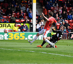 Bristol City's Martin Paterson goes close  - Photo mandatory by-line: Joe Meredith/JMP - Mobile: 07966 386802 12/04/2014 - SPORT - FOOTBALL - Walsall - Banks' Stadium - Walsall v Bristol City - Sky Bet League One