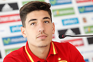 Hector Bellerin speaks during a press conference at Aktivpark Montafon Stadion, Schruns<br /> Picture by EXPA Pictures/Focus Images Ltd 07814482222<br /> 28/05/2016<br /> ***UK &amp; IRELAND ONLY***<br /> EXPA-ESP-160530-0054.jpg