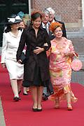 His highness prince Pieter-Christiaan of Oranje Nassau, of Vollenhoven and Ms drs. A.T. van Eijk get married  in the Great or St Jeroens Church in Noordwijk. <br /> <br /> <br /> Zijne Hoogheid Prins Pieter-Christiaan van Oranje-Nassau, van Vollenhoven en mevrouw drs. A.T. van Eijk treden in het (kerkelijk) huwelijk in de Grote St. Jeroenskerk in Noordwijk<br /> <br /> On the photo/Op de foto:<br /> <br /> <br /> <br /> Hare Koninklijke Hoogheid Prinses Christina der Nederlanden<br /> <br /> Her royal highness princess Christina of the The Netherlands