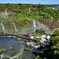 """World Waterfalls versus Iguaçu Falls in Foz do Iguaçu, Brazil<br /> Iguaçu Falls is always ranked among the five greatest waterfalls in the world. But is it the very best? Its peak drop of 269 feet is not the largest (that honor belongs to Angel Falls in Venezuela at 3,212 feet). Nor does its average flow of 62,000 cubic feet per second compete with the 2.5 million gallons a second at Inga Falls bordering Cambodia and Laos. But """"amazing"""" can rarely be quantified. That is definitely true at Iguaçu Falls. Based on the sheer beauty of its 275 cascades, Iguaçu Falls is often rated as the world's best."""