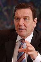 09 JAN 2002, BERLIN/GERMANY:<br /> Gerhard Schroeder, SPD, Bundeskanzler, waehrend einem Interiew, in seinem Buero, Bundeskanzleramt<br /> Gerhard Schroeder, SPD, Federal Chancellor of Germany, during an interview, in his office<br /> IMAGE: 20020109-02-015<br /> KEYWORDS: Gerhard Schr&ouml;der
