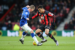 James McCarthy of Everton tackles Joshua King of Bournemouth - Mandatory by-line: Jason Brown/JMP - Mobile 07966 386802 28/11/2015 - SPORT - FOOTBALL - Bournemouth, Vitality Stadium - AFC Bournemouth v Everton - Barclays Premier League