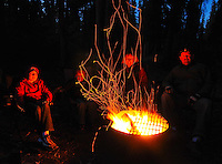 Around the campfire at Pine Lake, Haines Junction, Yukon