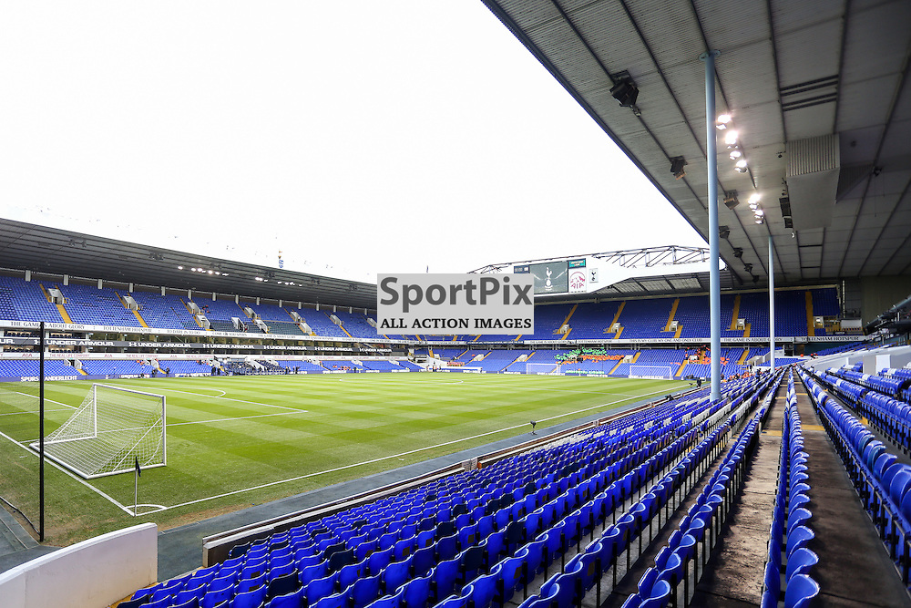 White Hart Lane of Tottenham Hotspur before the match vs Liverpool on Saturday 15th of October 2015.