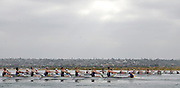 San Diego, California. USA,   2013 San Diego Crew Classic, Mission Bay.  General View, GV, crews powering away from the Start. 09:11:33   Sunday  07/04/2013  [Mandatory Credit. Karon Phillips/Intersport Images]...
