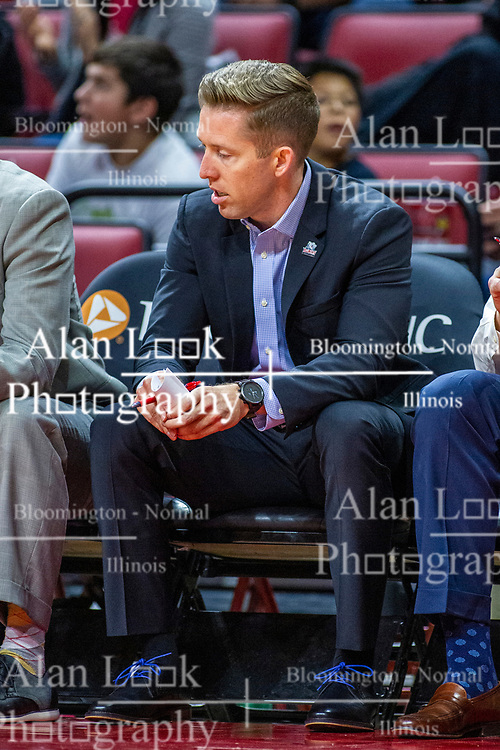 NORMAL, IL - November 06: Tyler Holloway during a college basketball game between the ISU Redbirds and the Belmont Bruins on November 06 2019 at Redbird Arena in Normal, IL. (Photo by Alan Look)