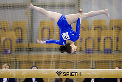 Tjasa Kysselef of Slovenia competes during Qualifications day of Artistic Gymnastics World Cup Ljubljana, on April 26, 2013, in Hala Tivoli, Ljubljana, Slovenia. (Photo By Vid Ponikvar / Sportida.com)