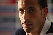 Rio Ferdinand of England during the press conference