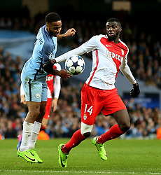 Tiemoue Bakayoko of Monaco challenges Raheem Sterling of Manchester City  - Mandatory by-line: Matt McNulty/JMP - 21/02/2017 - FOOTBALL - Etihad Stadium - Manchester, England - Manchester City v AS Monaco - UEFA Champions League - Round of 16 First Leg