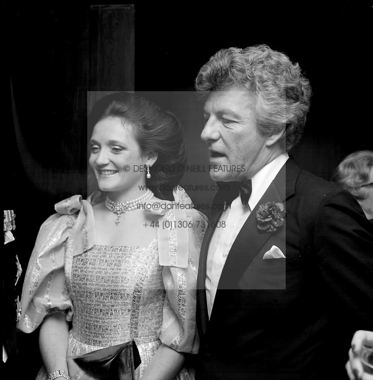 The EARL OF LICHFEILD and his former wife<br /> LADY LEONORA GROSVENOR in 1982. JBR 28