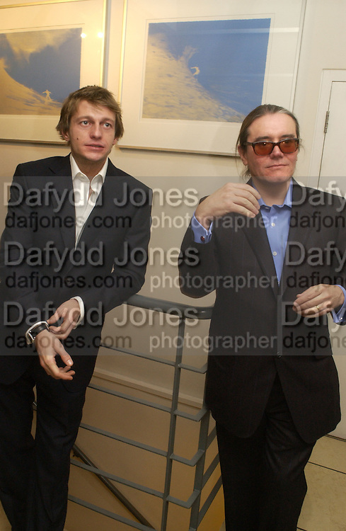 """Leo Gregory and Stephen Wooley. aftershow party followlng the UK Premiere of """"Stoned,"""" at Century on November 17, 2005 in London, England. 17 November 2005. ONE TIME USE ONLY - DO NOT ARCHIVE  © Copyright Photograph by Dafydd Jones 66 Stockwell Park Rd. London SW9 0DA Tel 020 7733 0108 www.dafjones.com"""