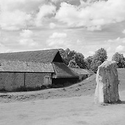 Thatched Roof Stable And Stone - Avebury, UK - Infrared Black & White