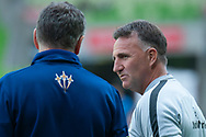 Melbourne City head coach Warren Joyce during warm up at the Hyundai A-League Round 6 soccer match between Melbourne City FC and Newcastle Jets at AAMI Park in Melbourne.