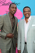 """Los Angeles, CA-June 29:  (L-R) Actor/Recording Artist Leon and Judge Greg Mathis attends the Seventh Annual """" Pre """" Dinner celebrating BET Awards hosted by BET Network/CEO Debra L. Lee held at Miulk Studios on June 29, 2013 in Los Angeles, CA. © Terrence Jennings"""