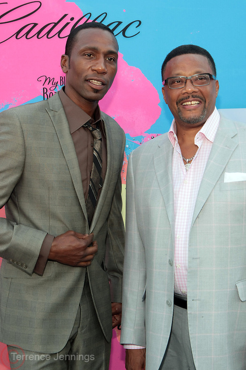 "Los Angeles, CA-June 29:  (L-R) Actor/Recording Artist Leon and Judge Greg Mathis attends the Seventh Annual "" Pre "" Dinner celebrating BET Awards hosted by BET Network/CEO Debra L. Lee held at Miulk Studios on June 29, 2013 in Los Angeles, CA. © Terrence Jennings"