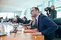 31 OCT 2018, BERLIN/GERMANY:<br /> Jens Spahn, CDU, Bundesgesundheitsminister,  vor Beginn der Kabinettsitzung, Bundeskanzleramt<br /> IMAGE: 20181031-01-013<br /> KEYWORDS: Kabinett, Sitzung