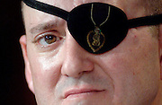 Army Staff Sgt. John Daniel Shannon, who lost his eye in combat operations in Iraq, testifies before Congress about the conditions at the Walter Reed Army Medical Center, in Washington, D.C.